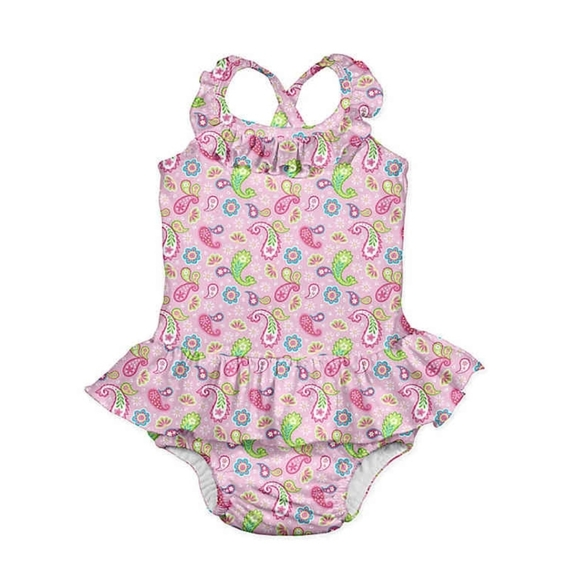 I Play Other - Paisley swimsuit with built in swim diaper